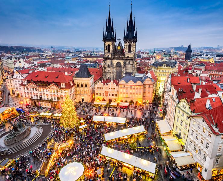 Immagini Di Mercatini Di Natale.I Tradizionali Mercatini Di Natale A Praga Vagamondo Viaggi Furno